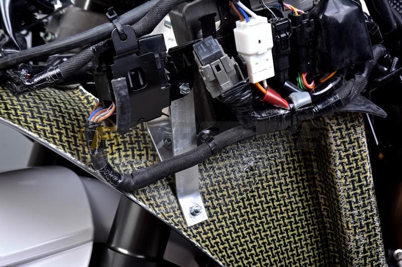 Canalizador de aire con soporte de aluminio